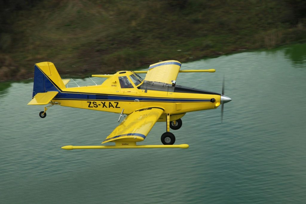 Air Tractor for aerogeophysical mapping overflying land and sea